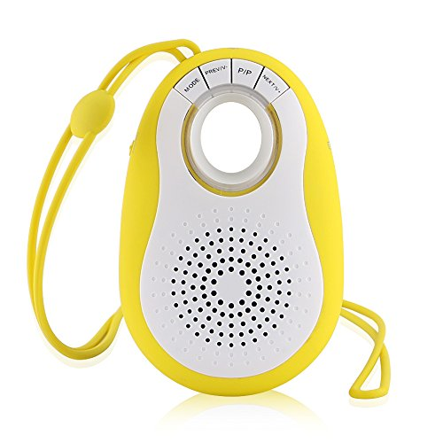 iEGrow Portable Mini Outdoor Bluetooth Speaker with Lanyard Support Hand-free Call FM Radio TF Card Selfie Camera Remote Shutter For iPhone Samsung Cell Phone and Other Bluetooth Device (Yellow)