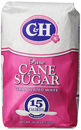 C&H Pure Cane Granulated White Sugar, 10 lb