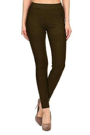 30e9f9992ad16e VIV Collection Jeggings Jean Leggings Pants w/Pockets Soft Cotton ...