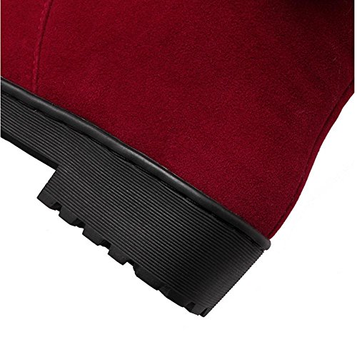 non inferiore H Cammello gomma BLACK scrub di caldo stivali slip rosso nodo HDonne invernali Nero neve farfalla femminili 39 stivali qpZqw7FCrx