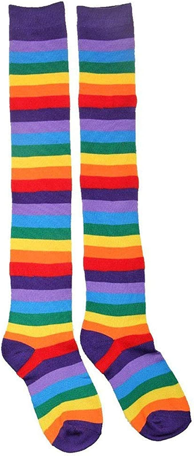 Tie Dye Womens Girl Cotton Socks Novelty Festival Party Present Fun Gift RAINBOW