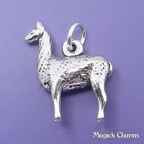 (925 Sterling Silver 3-D Llama Alpaca Charm Pendant Jewelry Making Supply, Pendant, Charms, Bracelet, DIY Crafting by Wholesale Charms)