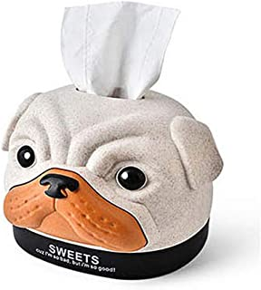 product image for Sweets Roll Toilet Paper Holder and Dispenser for Storage Organizing, 1 Toilet Paper Included, Cute Bobby Bulldog Toilet Paper Case, 4 Color Random