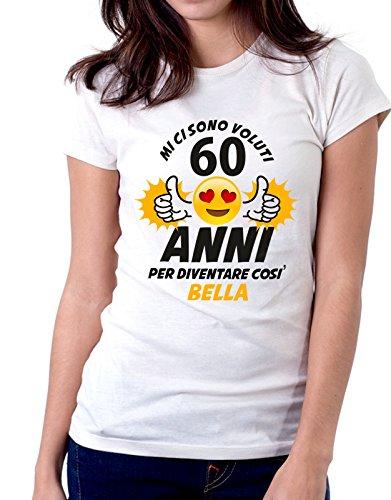 cotone voluti anni come e Bianco regalo eventi Tshirt Compleanno diventare Mi ci così ricorrenze ideale compleanno 60 per in di bella sono 4WSgRwq
