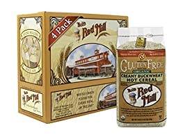 Bob\'s Red Mill Organic Gluten Free Creamy Buckwheat Hot Cereal, 18 Ounce (Pack of 4)