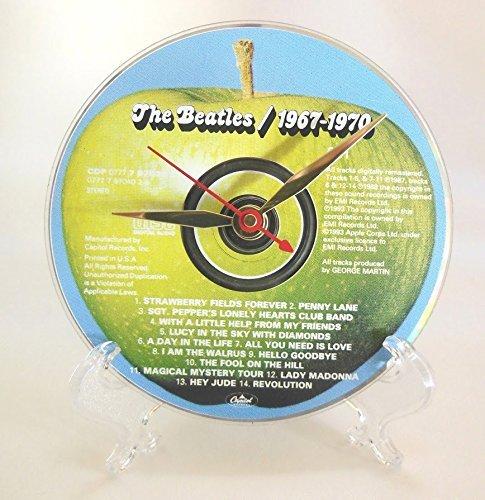 The Beatles Desktop Clock – Handmade with the original Beatles CD: The Beatles 1967-1970