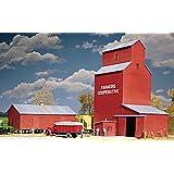 Walthers Cornerstone Series Kit HO Scale Farmers Cooperative Rural Grain Elevator