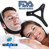 Anti Snoring Chin Strap, Stop Snoring Devices for Men Women Snoring Solution Adjustable Snore Reduction Chin Straps Advanced Sleep AIDS Chin Strips (Chinstrap-Black)
