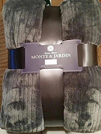 monte-jardin-king-gray-jacquard-velvet-blanket-super-size-112-by-92-inches