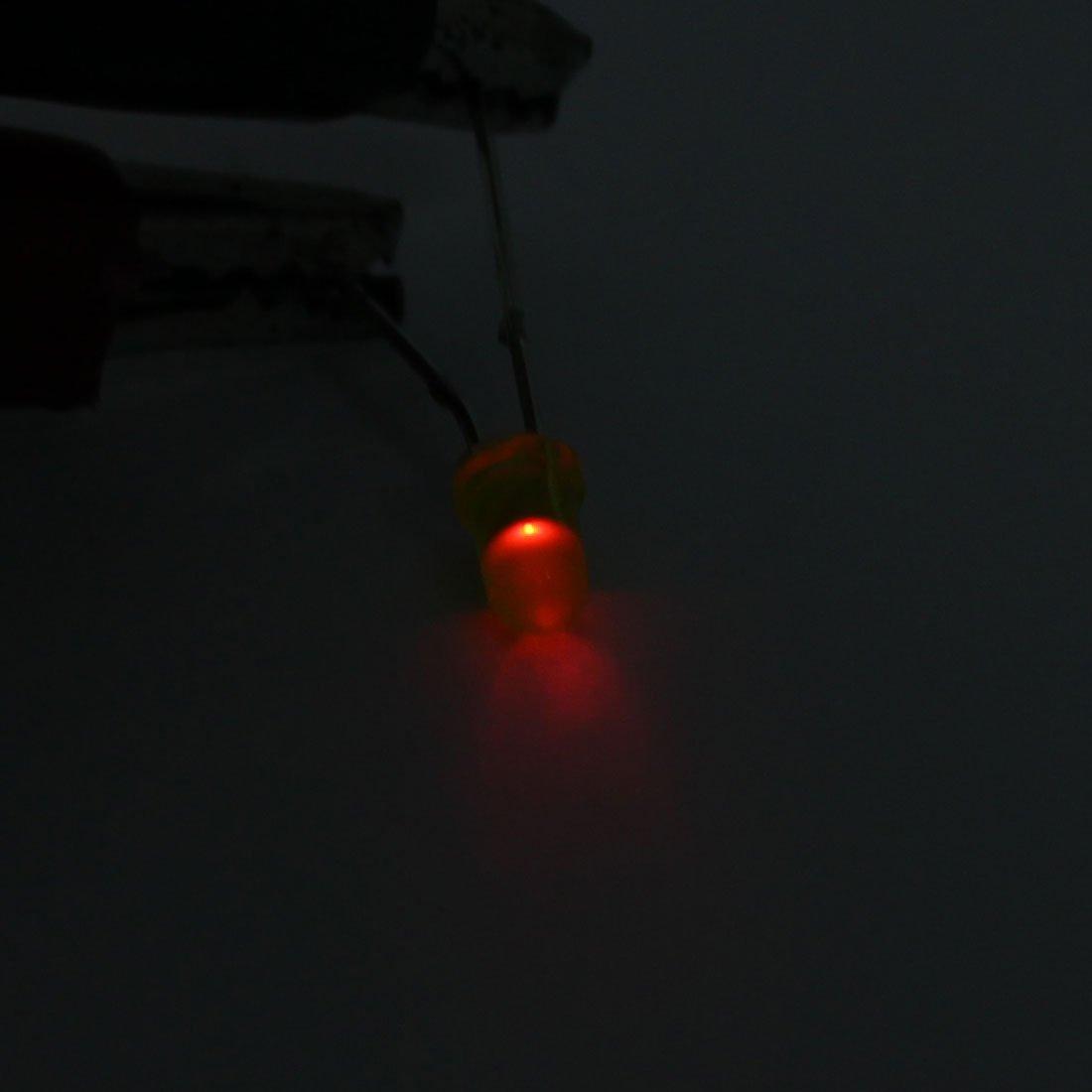 3 mm LED Verte Fresh eDealMax Lampe Cap 2 Borne Emitting Diodes frais Green Light