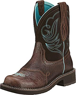 ARIAT 10016238 Women's Fatbaby Heritage Dapper Western Boot, Royal Chocolate-9 C