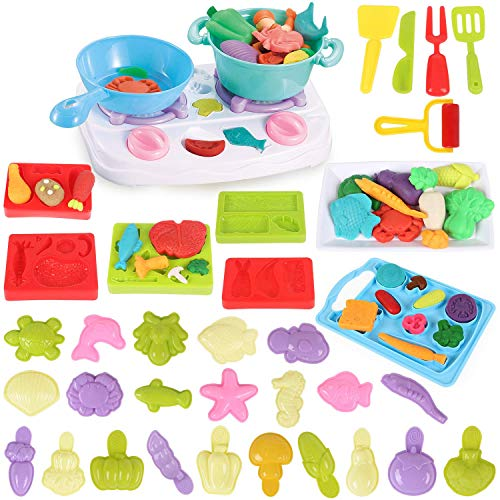 Play Dough Toys for Kids,Playdough Tools Kitchen Creation Molding,Upgraded Toy Gift Set