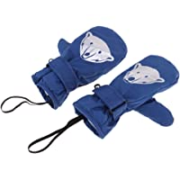 F Fityle Children's Winter Cotton Lined Waterproof Ski Mittens Thermal Snow Gloves with Reflective Snowflake/Animal Images