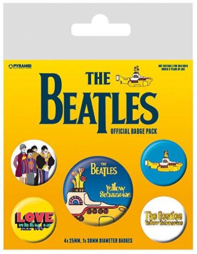 Pyramid International The Beatles sous-Marin Jaune Badge, Multicolore, 10 x 12.5 x 1.3 cm 10x 12.5x 1.3cm BP80477