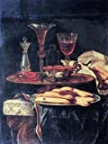 Christian Berentz Still-Life with Crystal Glasses and Sponge-Cakes - 21.1'' x 28.1'' 100% Hand Painted Oil Painting Reproduction