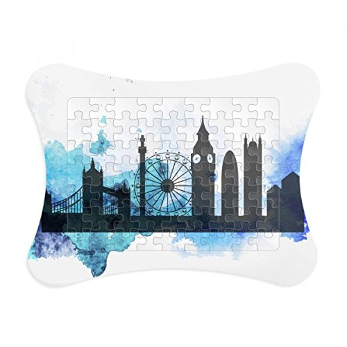 London Tower Bridge Silhouette England Paper Card Puzzle Frame Jigsaw Game Home Decoration Gift - England Silhouette