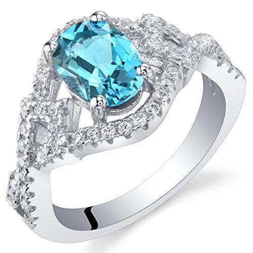 London Blue Topaz Sterling Silver Lace Ring Size (Topaz Lace)