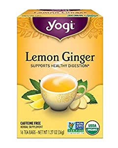 Yogi Tea, Lemon Ginger, 16 Count (Pack of 6), Packaging May Vary