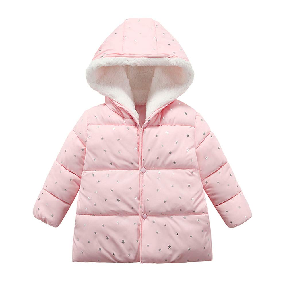 Lonshell_Toddler Clothing Baby Girls Boys Hooded Parka Down Jacket Long Sleeve Warm Outerwear 1-4 Years Baby Cashmere Winter Jacket Buttom-Down Star Coat Outfits Cloth