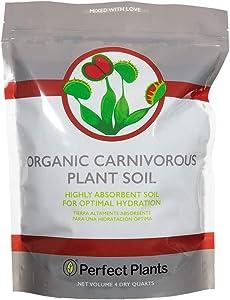 Perfect Plants Carnivorous Plant Soil   4 Qts. Organic Premium Mix   Use with Venus Fly Traps, Pitcher Plants, or Other Carnivorous Plants