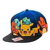 Grupo-de-carcter-oficial-Pokemon-gradiente-Snapback-gorra-sombrero-un-tamao-Pikachu