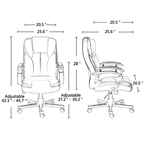 Acepro Office Chair Executive PU Leather High Back Ergonomic