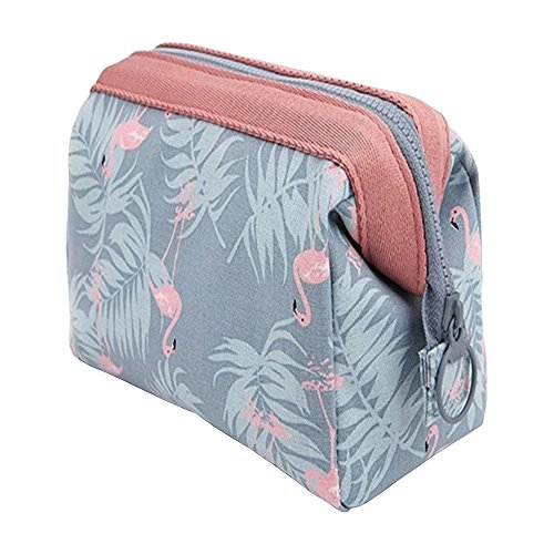Ceslysun Women's Multi-function Storage Bag Portable Makeup Bag Flamingo Organizer Bag by Ceslysun