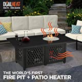 Blue Rhino Dual Heat LP Gas Outdoor Fire Table