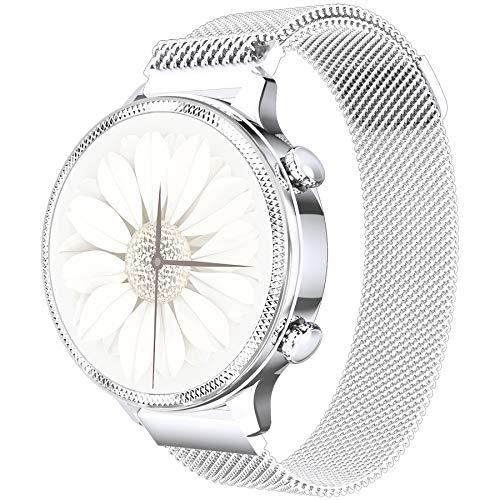 Smartwatch voor dames heren en kinderen, fitnesspolshorloge 1,1 inch touchscreen, fitnesshorloge fitness tracker met…