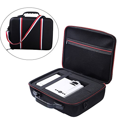Zaracle Portable Carry case Protective Pouch Bag Storage Bag Projector Case For DBPOWER T21 Upgraded LED Projector and Accessories by Zaracle