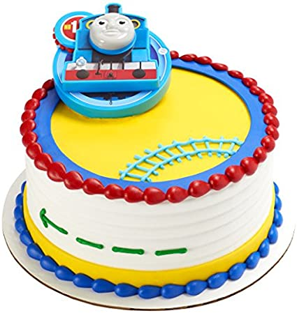 Admirable Amazon Com Thomas The Tank Engine Cake Topper Toys Games Birthday Cards Printable Opercafe Filternl