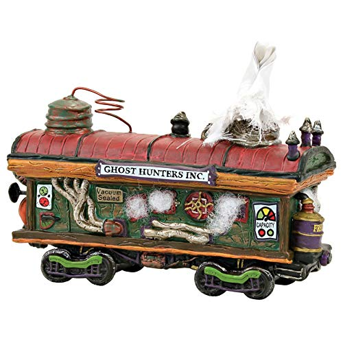 Department 56 Snow Village Halloween Accessories Haunted Rails Scary Ghost Hauler Lit Figurine, 4.41 Inch, Multicolor