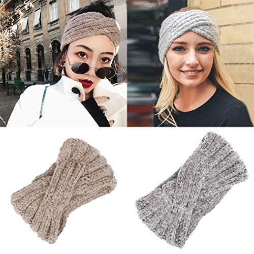 Cross Crochet (Kikole Women Casual Soft Solid Weaving Cross Headband Knitted Hairband Headbands)