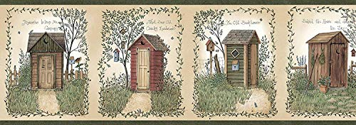 Linda Spivey Outhouses themed bathroom Collection by Chesapeake - Linda Spivey Hearts