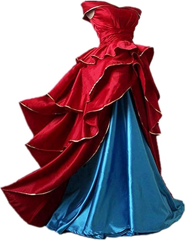 Amazon Com Fate Grand Order Red Dress Leonardo Da Vinci 2nd Anniversary Cosplay Costume Long Dress Clothing