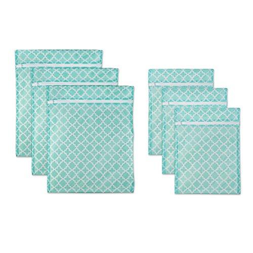 DII Set of 6 Mesh Laundry Bags for Delicates, Bra, Underwear, Hosiery, Stocking, Lingerie, Travel Storage, and Closet Organization - 3 Large & 3 Medium