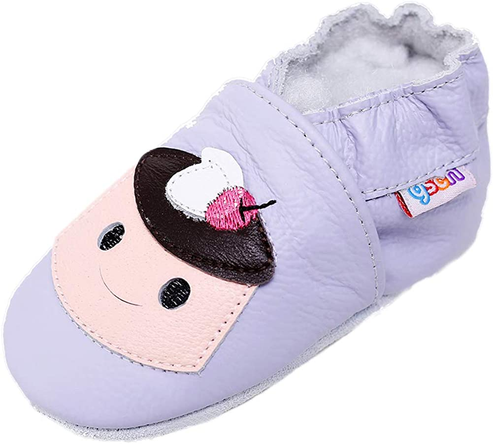 Cute Baby Boy Girl Infant Toddler Soft Sole Crib Shoes Newborn Shoes Socks 0-6M