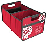 meori Classic Large, Hibiscus Red with Flowers, Collapsible Box to Organize, Store and Carry Anything and Everything