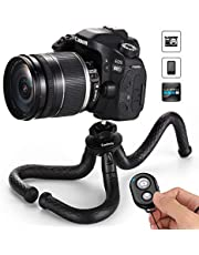 Coolway® 12 inch DSLR Flexibles Mini Kamera Reise Stativ für DSLR/GoPro Aktion Kamera Traglast 2 kg - Schwarz …