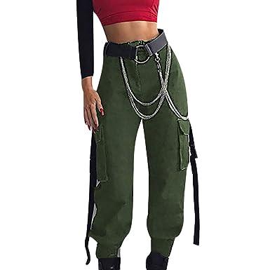 a50343a8792 MCYs Femme Pantalon De Travail Combat Cargo Plusieurs Poches(Pas de  Ceinture)