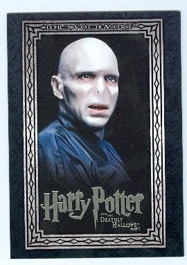 Voldemort trading card Harry Potter Deathly Hallows #06 Ralph Fiennes by Autograph Warehouse