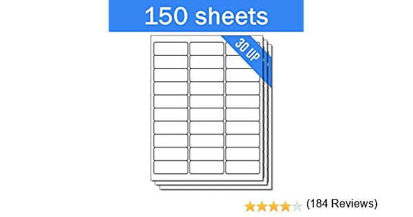 avery address ink jet labels 1 x 2625 inches white 30 up