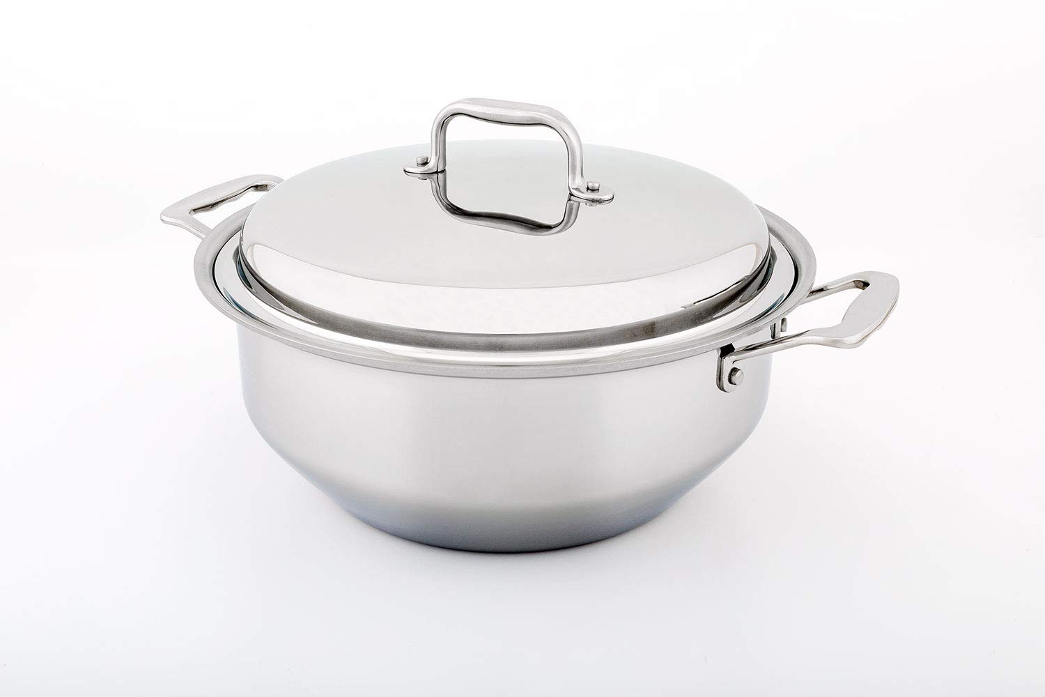 360 Stainless Steel Stock Pot with Lid, 6 Qt Gourmet Stockpot, Handcrafted in the USA, Induction Cookware, Waterless Cookware, Dishwasher Safe, Oven Safe, Stainless Steel Cookware (6 Quart Gourmet)