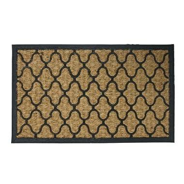 Rubber-Cal  Harmonious Garden  Outdoor Coco Decorative Rubber Entry Mat, 18 x 30-Inch