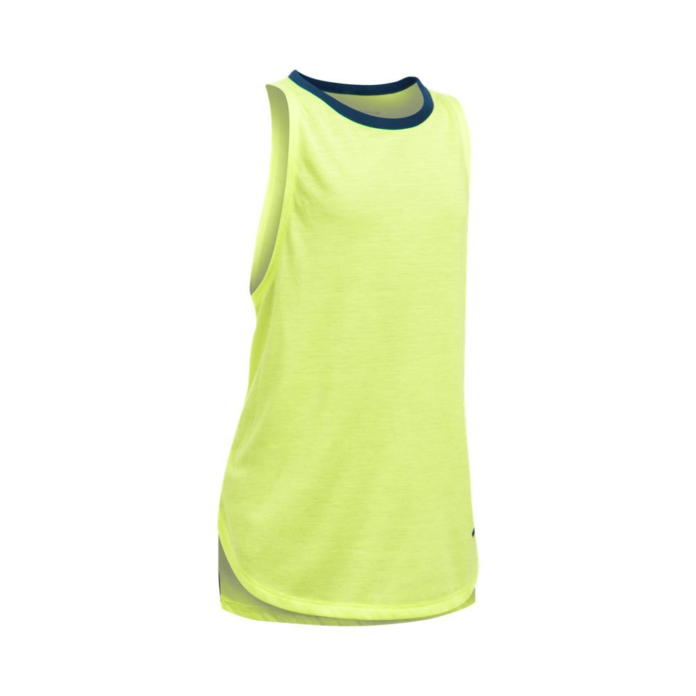 Under Armour Kids Girl's Threadborne Play Up Tank Top (Big Kids) Pale Moonlight/Blackout Navy Tank Top