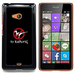 Stuss Case / Funda Carcasa protectora - Raptors cartel Clever dinosaurio Negro - Nokia Lumia 540