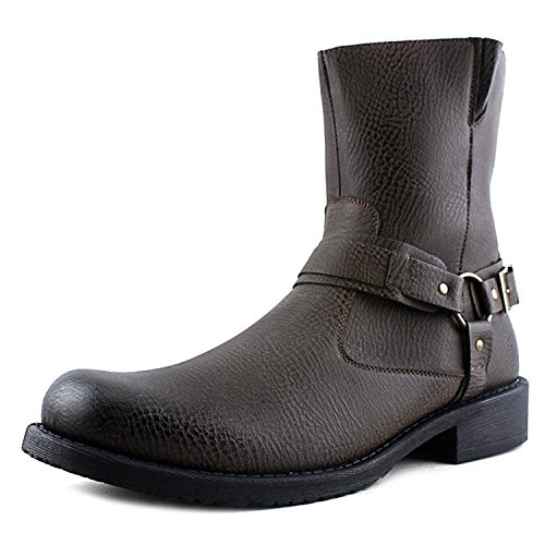 Robert Wayne Men's Connor Harness Boot,Textured Brown Synthetic,US 10 M