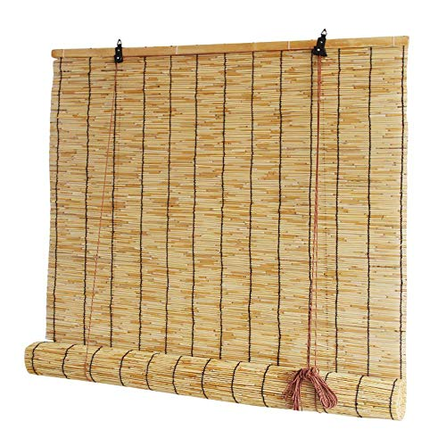 - Reed Curtain Shade Curtain Bamboo Curtain Decoration Partition Curtain, Indoor and Outdoor Window Blinds Custom Size