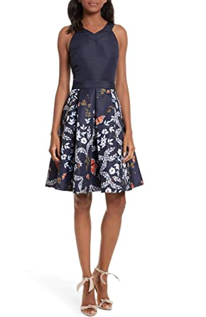 548be9f611a Image Unavailable. Image not available for. Color  Ted Baker Bethah Kyoto  Floral Sleeveless Fit   Flare ...