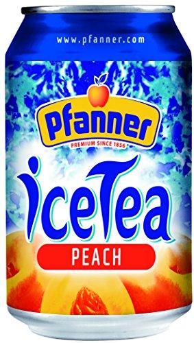 Pfanner Eistee Pfirsich, 24er Pack (24 x 330 ml)